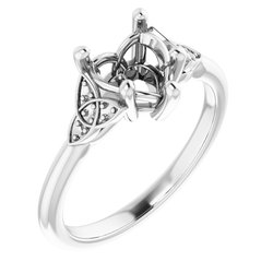 Celtic-Inspired Engagement Ring