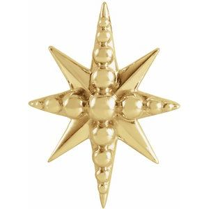 14K Yellow 14.8x10.7 mm Beaded Starburst Slide Pendant
