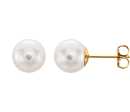 Essential Styles | Pearl Earrings on Yellow Gold Posts