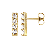 Modern Brilliance | Channel Set Four-Diamond Earrings