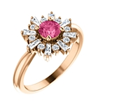 Trends We Love | Rose Gold Halo Ring with Pink Tourmaline Center