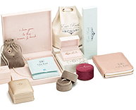 Packaging | Jewelry Packaging in Various Sizes and Shades of Pink and Red