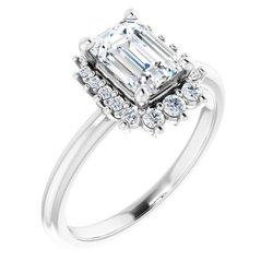 Zásnubný prsteň - halo štýl