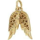 Accented Angel Wings Necklace or Pendant