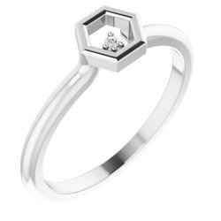Stackable Honeycomb Ring
