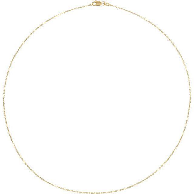 18K Yellow 1 mm Diamond-Cut Cable 20