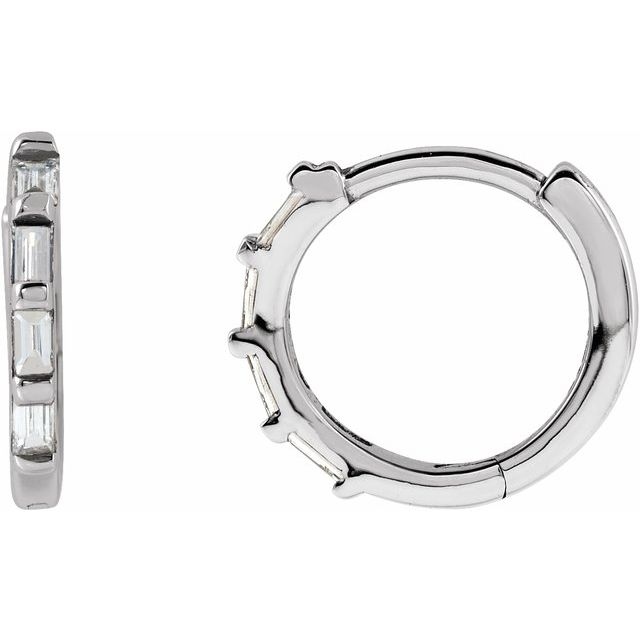 Sterling Silver 1/10 CTW Diamond Huggies