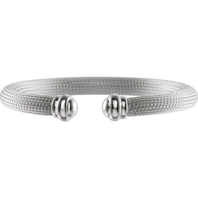 Sterling Silver Mesh Cuff 7.5