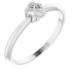 Accented Knot Ring