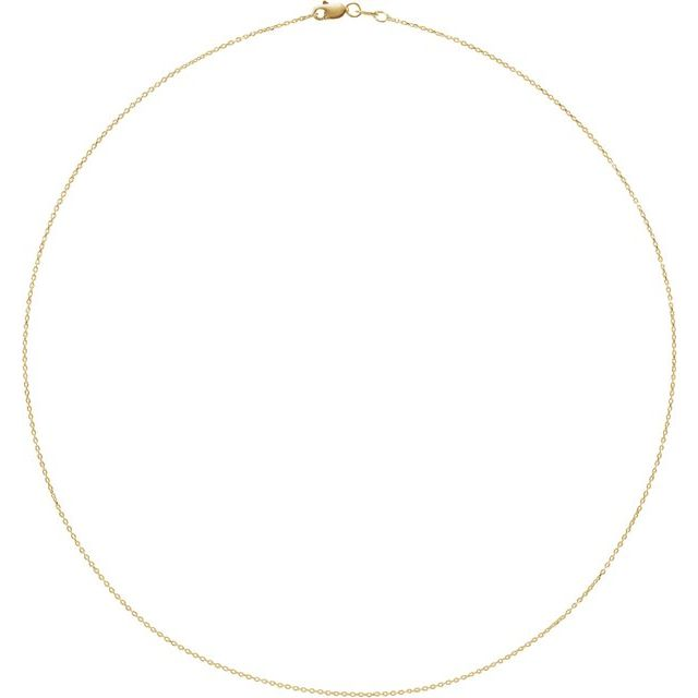 14K Yellow 1 mm Adjustable Diamond-Cut Cable 16-18