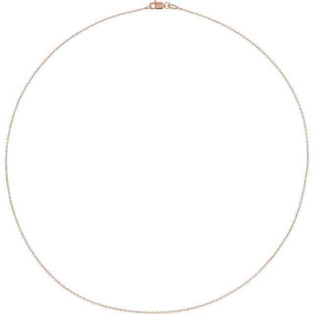 10K Rose 1 mm Diamond-Cut Cable 16