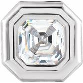 Asscher Back-Set Bezel Setting