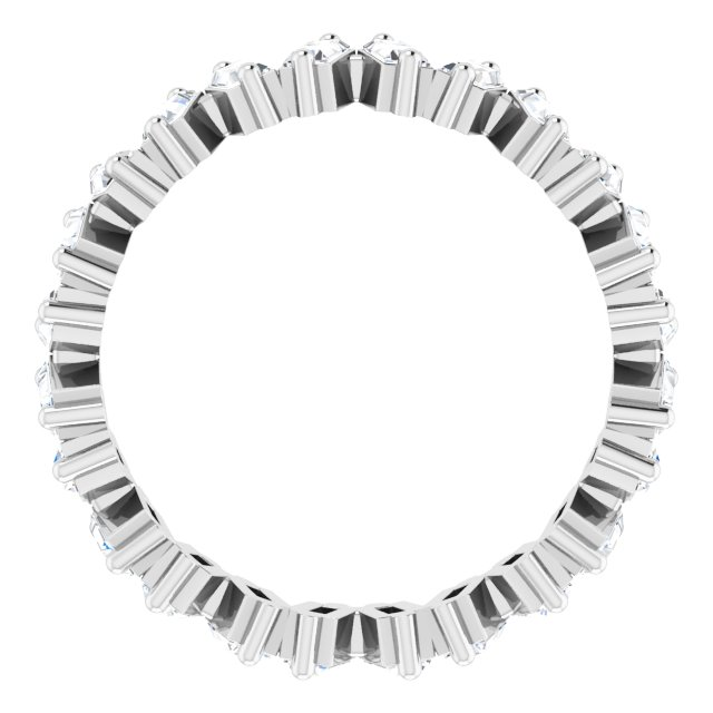 14K White 1 1/2 CTW Lab-Grown Diamond Eternity Band Size 7