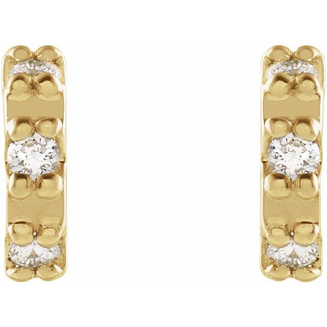 14K Yellow .04 CTW Diamond Half Circle Earrings