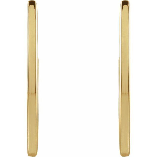 14K Yellow 20 mm Geometric Hoop Earrings