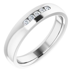 122151 / 10Kt X1 White / Band / Complete No Setting / Round / 05.50 Mm / Polished / Band