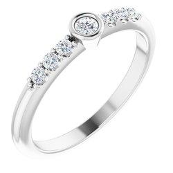 Stackable Bezel-Set Ring