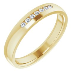 124209 / 18K Yellow / RING / Neosadený / round / 01.50 Mm / 08.50 / Polished / Mens Ring Mounting