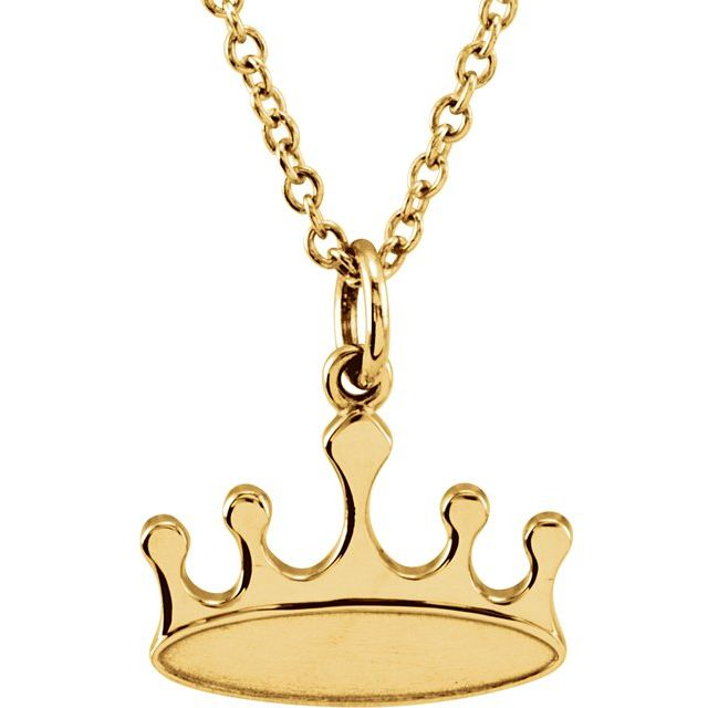 14K Yellow Tiny Posh® Crown 16-18