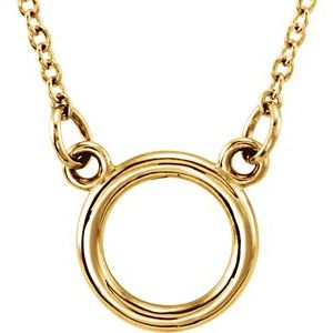 "14K Yellow Tiny Posh® Circle 16-18"" Necklace"