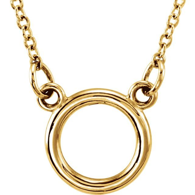14K Yellow Tiny Posh® Circle 16-18