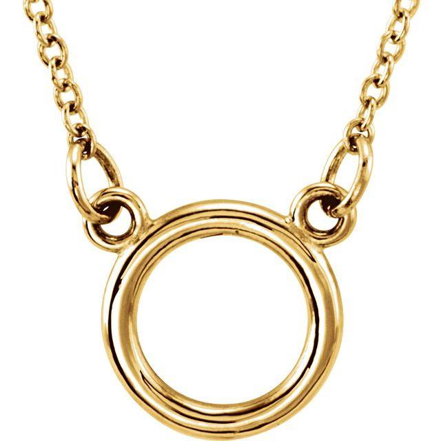 Sterling Silver Tiny Posh® Circle 16-18