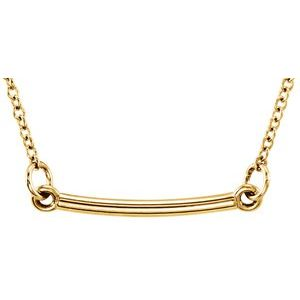 "14K Yellow Tiny Posh® Bar 16-18"" Necklace"