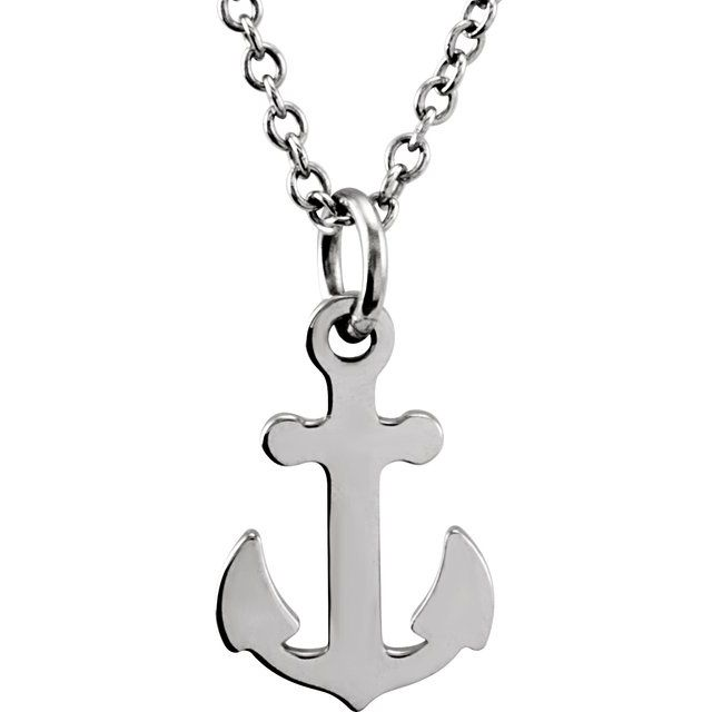Sterling Silver Tiny Posh® Petite Anchor 16-18