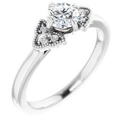 Claw-Prong Engagement Ring
