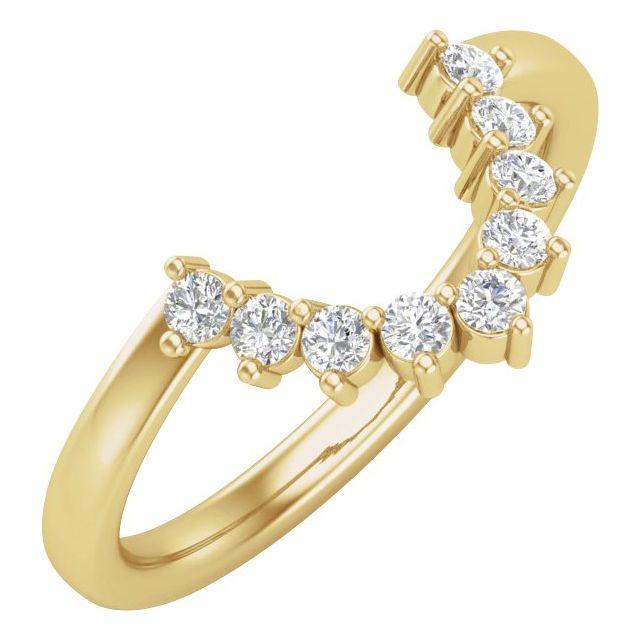 14K Yellow 1/3 CTW Matching Diamond Band