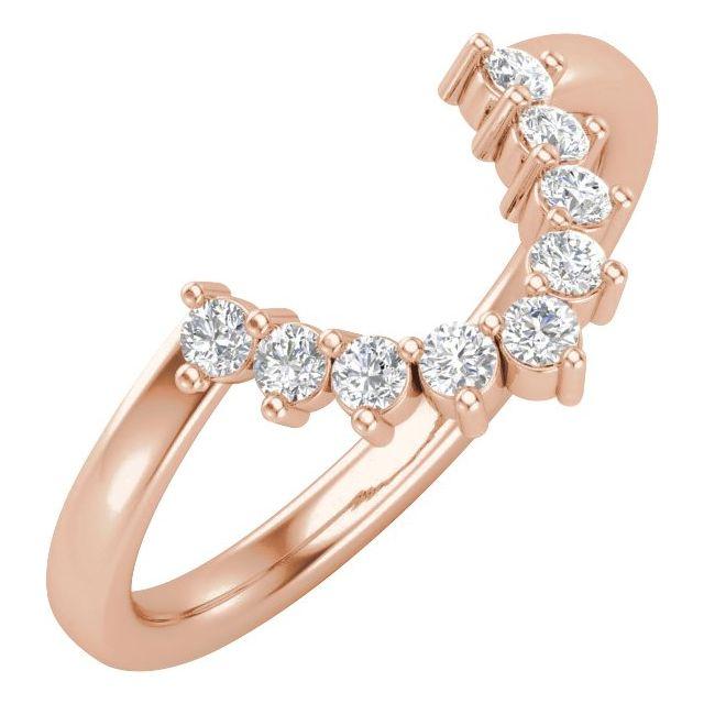 14K Rose 1/3 CTW Matching Diamond Band
