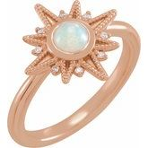 Celestial Cabochon Ring