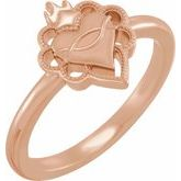 Negative Space Sacred Heart Ring
