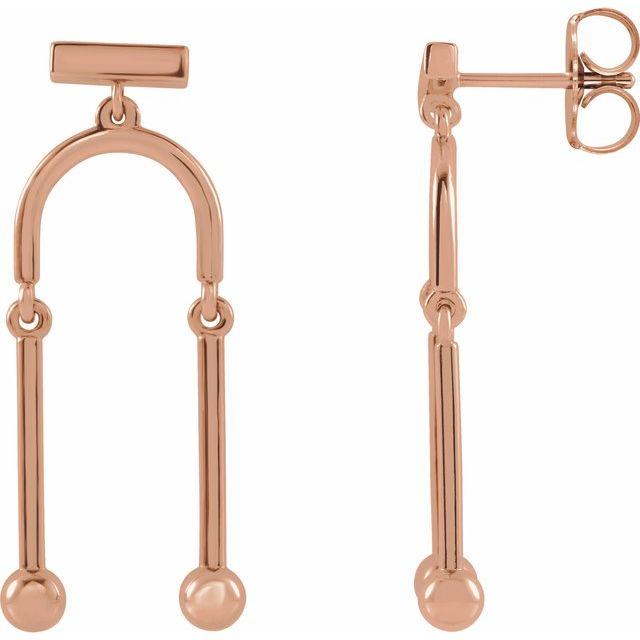 14K Rose Mobile Earrings