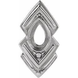 Bezel-Set Geometric Necklace or Pendant