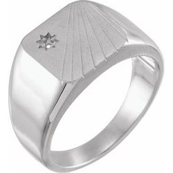 Celestial-Inspired Signet Ring