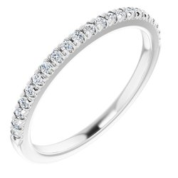 French-Set Claw-Prong Engagement Ring or Band