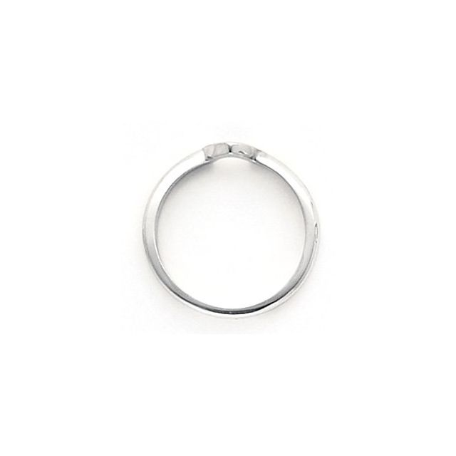 14K White 1.00 CT Band for Solitaire Mounting