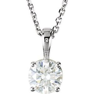 "14K White 1/2 CTW Diamond 18"" Necklace"