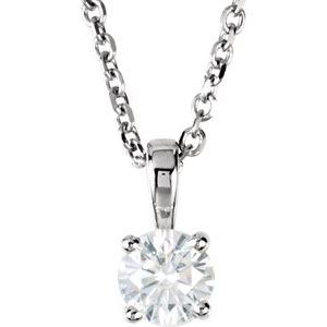 "14K White 1/4 CTW Diamond 18"" Necklace"