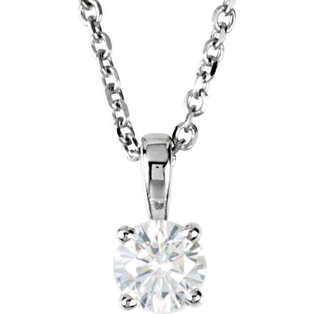 14K White 1/4 CTW Diamond 18