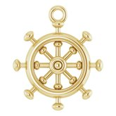 Ship Wheel Dangle