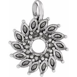 Halo-Style Necklace or Pendant