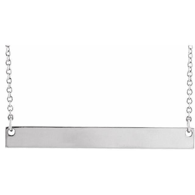 Sterling Silver 34x4 mm Bar 18