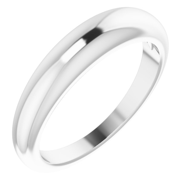 Sterling Silver 4 mm Petite Dome Ring