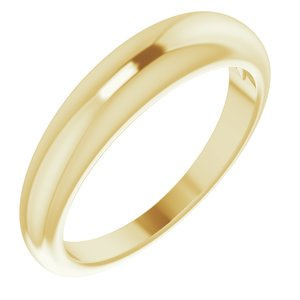 14K Yellow 4 mm Petite Dome Ring