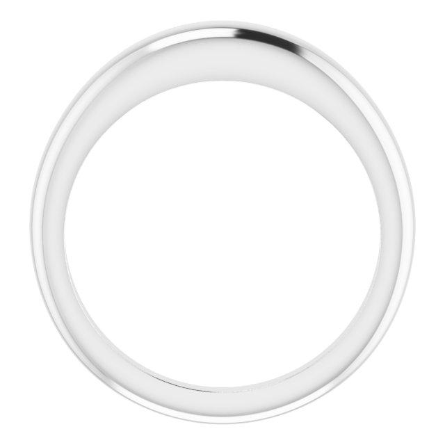14K White 4 mm Petite Dome Ring