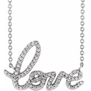 "Necklace 1/6 CTW Diamond Love 16"" Necklace"