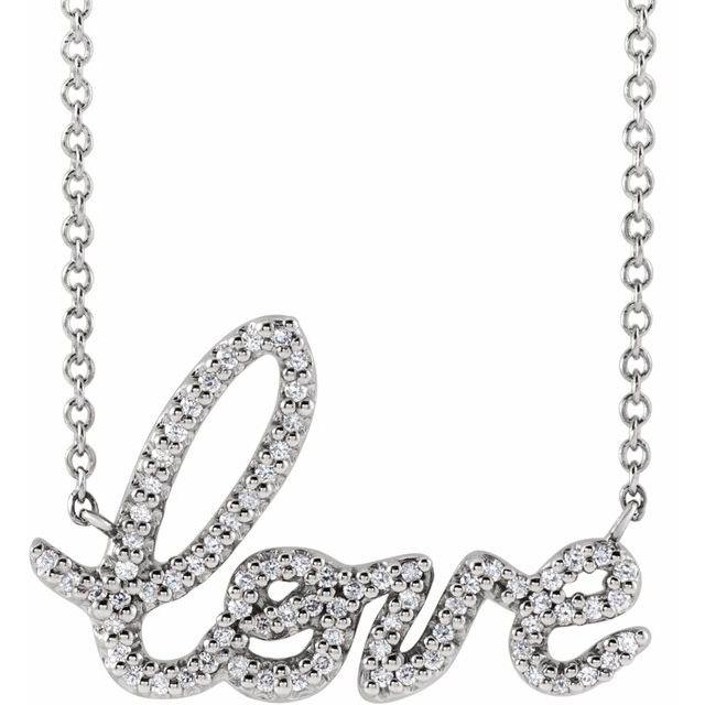 Necklace 1/6 CTW Diamond Love 16