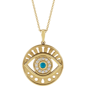 diamond devil's eye necklace
